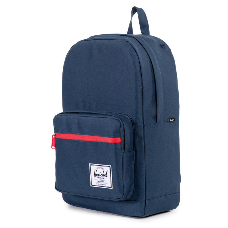 navy/red zipper