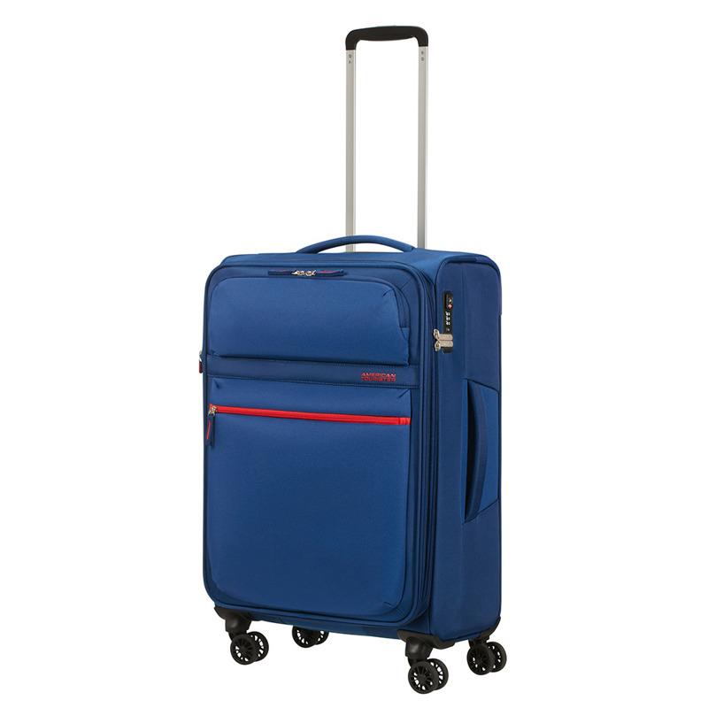 1c1da728a0442 Średnia poszerzana walizka lekka American Tourister Matchup na 4 ...