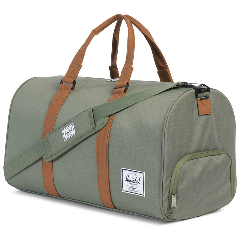 deep lichen green/tan synthetic leather