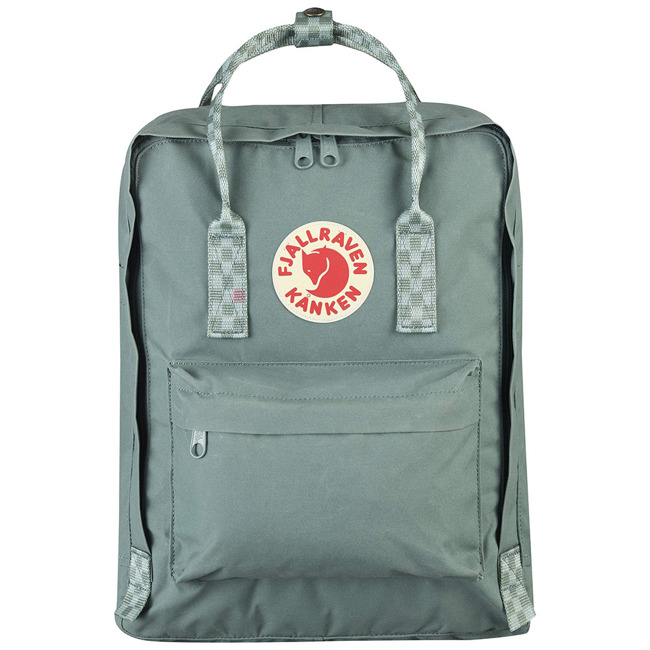 Fjallraven Kanken plecak do miasta - frost green / chess pattern