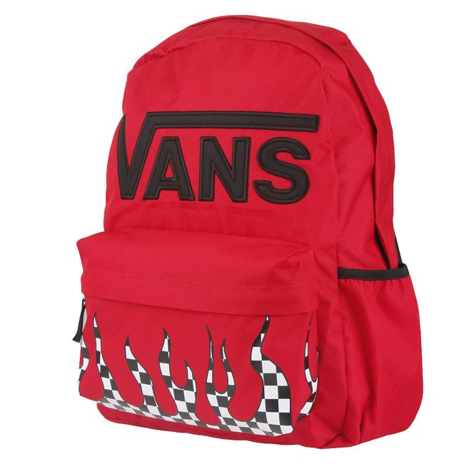 Plecak do szkoły Vans Realm Flying - racing red checker flame